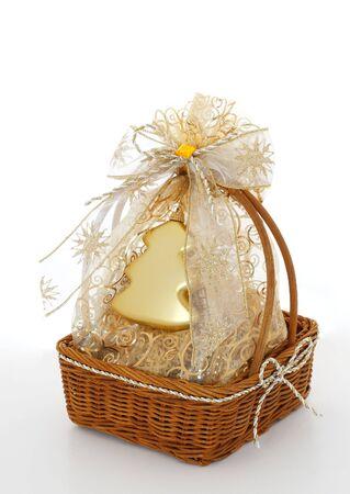basket xmas gift Stock Photo
