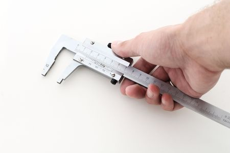 hand with caliper Stock Photo - 6318274