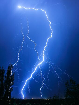 Striking lightning in the dark