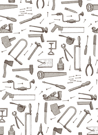 tools seamless vector pattern