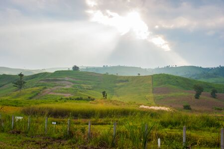 two tone: Two tone hill at Khao-Kho,Petchaboon, Thailand