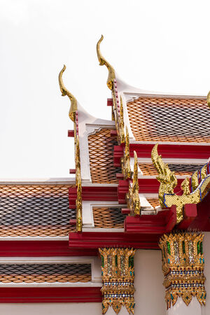 Thai style Roof with gable apex on the top photo