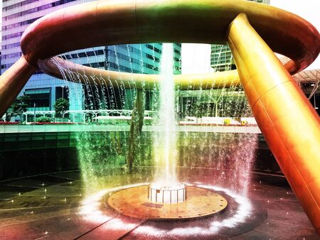 Fountain of wealth in Suntec city building, Singapore Stock Photo