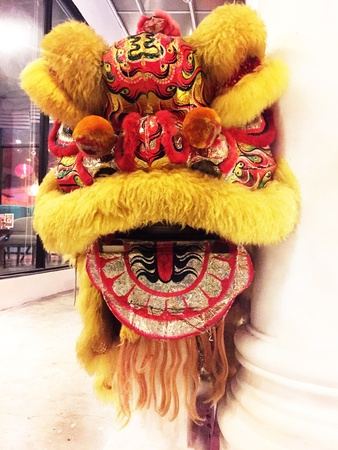 head for: Lion head for Chinese new year Stock Photo