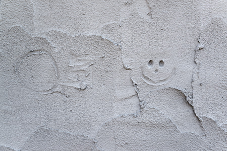 wet cement texture Stock Photo