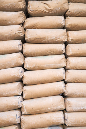 stacked cement sacks  photo