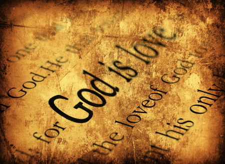 God is love. 1john 4:8, Holy Bible Stock Photo - 28634773