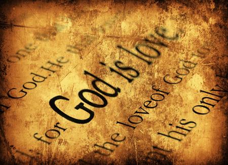 God is love. 1john 4:8, Holy Bible Standard-Bild