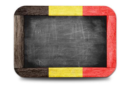 Belgium flag soccer 2014 framed of Small chalkboard