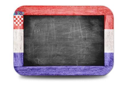 Croatia flag small chalkboard in football world 2014 photo