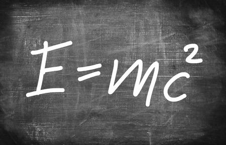 Relativiteitstheorie van Albert Einsteins op schoolraad Stockfoto