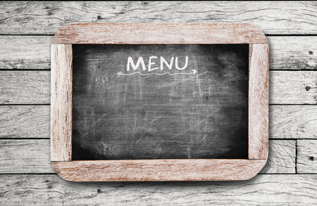 Chalkboard with  MENU  handwriting including clipping path