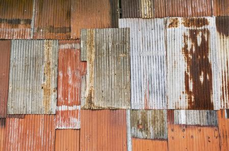 Rusty corrugated metal wall Imagens - 30208391