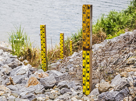Water level at the dam  photo