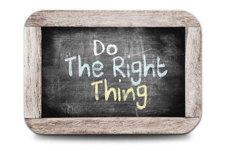 Do The Right Thing written on the blackboard Stock fotó