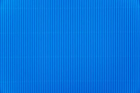 Blue corrugated paper background  Stock Photo
