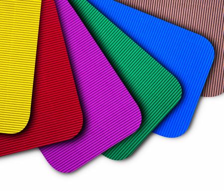Color corrugated paper samples