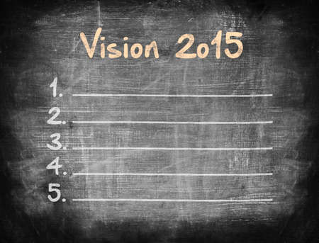 Vision 2015 on blackboard. photo