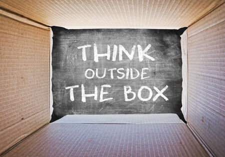 Thinking outside the box, Concept image about freedom of mind.