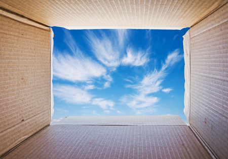 Thinking outside the box, Concept image about freedom of mind. photo