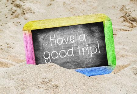 bonne aventure: Avoir un bon voyage sur chalkborad