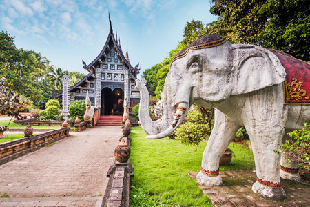 molee: Wat Lok Molee, old wooden temple in Chiang mai, Thailand.