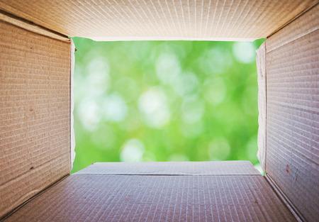 Denken buiten de doos Concept Stockfoto