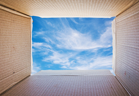 Thinking outside the box Concept image photo
