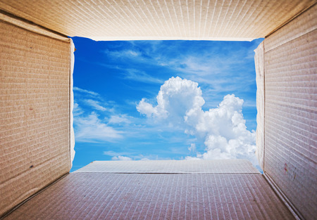 Thinking outside the box Concept image Stock Photo - 32768625