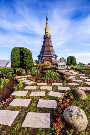 Pagoda in an Inthanon mountain, Doi Inthanon nation park,Thailand. photo