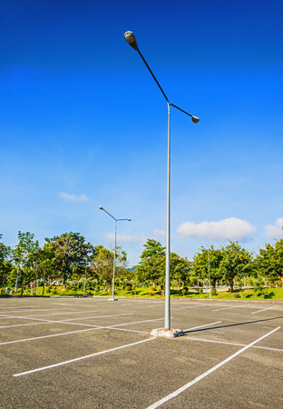 Vacant Parking Lot ,Parking lane outdoor in public park Stok Fotoğraf - 34012059