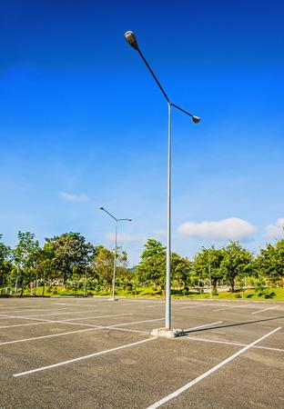 Vacant Parking Lot ,Parking lane outdoor in public park Imagens - 34012059