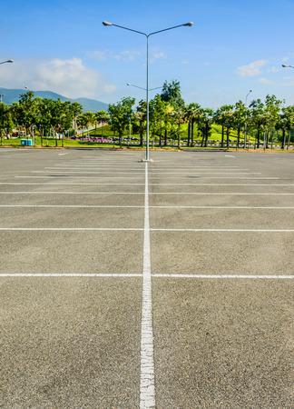 vacant lot: Vacant Parking Lot ,Parking lane outdoor in public park
