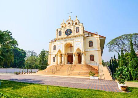 church bell: Suebnathitham church, located in Chiang Mai, Thailand.
