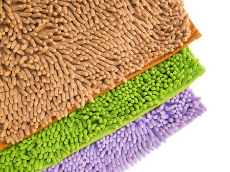 clean carpet: Cleaning feet doormat or carpet for clean your feet.
