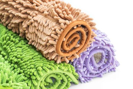 clean carpet: Cleaning feet doormat or carpet for clean.