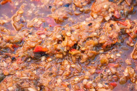 pla: Nam Prik Pla Ra, Fermented fish sauce ,Chiang Mai chili sauce, Thai food.