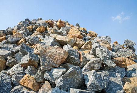 Pile of rocks for construction.