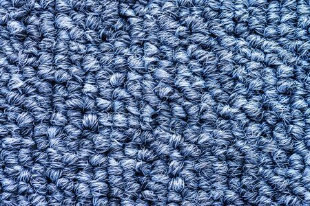 carpet texture: Close up blue color carpet texture