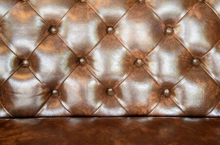chambered: Seamless brown leather texture Stock Photo