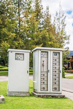 control box: Outdoor electric control box Stock Photo