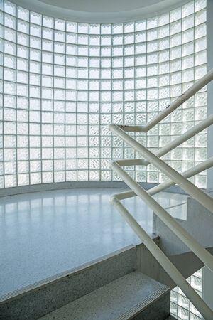 glass brick: glass brick and stair