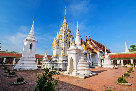 thani: Wat Phra Borommathat Chaiya Worawihan, an ancient temple at Chaiya district,Surat Thani province, South of Thailand. Stock Photo
