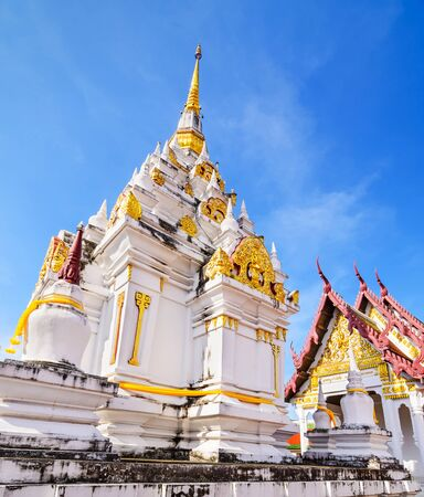 surat: Wat Phrathat Chaiya Worawihan, Public ancient temple ,Surat Thani province, Thailand. Stock Photo