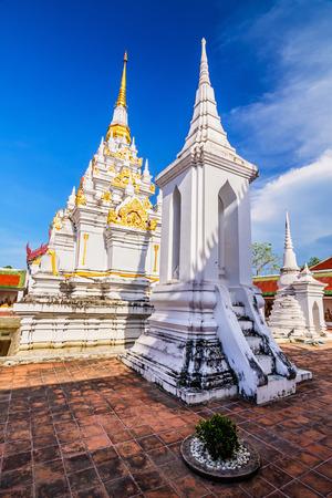 surat: Wat Phra Borommathat Chaiya Worawihan, an ancient temple at Chaiya district,Surat Thani province, South of Thailand. Stock Photo