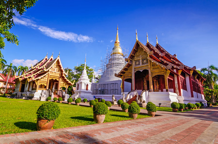 mai: Wat Phra Sing Temple located in Chiang Mai Province ,Thailand, Asia. Stock Photo