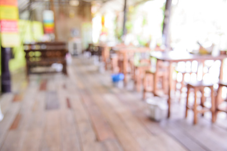 Blur restaurant background with bokeh. Stock fotó