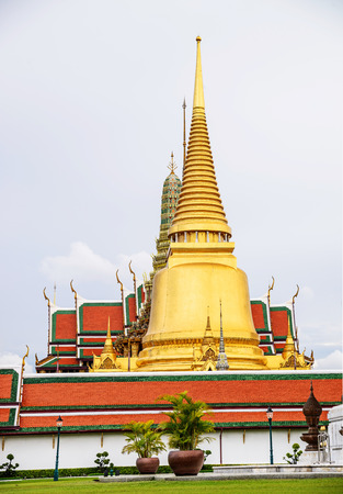 the emerald city: Wat Phra Kaeo, Temple of the Emerald Buddha and the home of the Thai King.