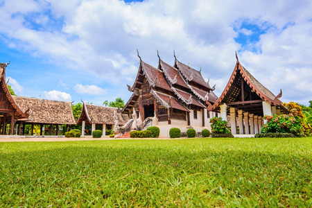 ton: Wat Ton Kain , Old wooden temple in Chiang Mai Thailand, They are public domain or treasure of Buddhism, No restrict in copy or use.