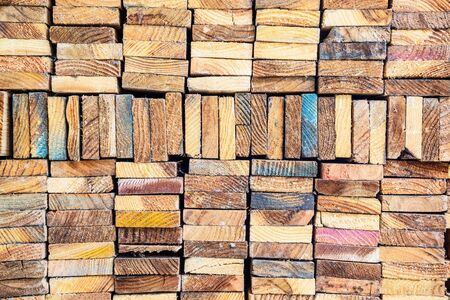 wood cut: Stack of wood lumber for background, Stacked Wood Cut